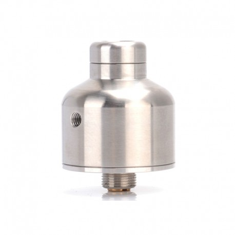 Nipple Style RDA Rebuildable Dripping Vape Atomizer - Silver, Stainless Steel, 22mm Diameter