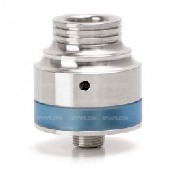 AP Vector Style RDA Rebuildable Dripping Vape Atomizer - Silver, 316 Stainless Steel + PC, 1.4ml, 22mm Diameter