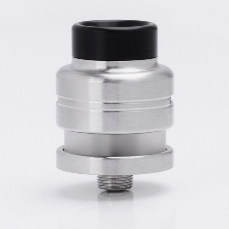 Split R Atty Style RDTA Rebuildable Dripping Tank Vape Atomizer - Silver, 316 Stainless Steel, 1.3ml, 22mm Diameter