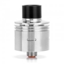 Hobo 4.0 Customs Drifter Style RDA Rebuildable Dripping Vape Atomizer - Silver, Stainless Steel, 22mm Diameter