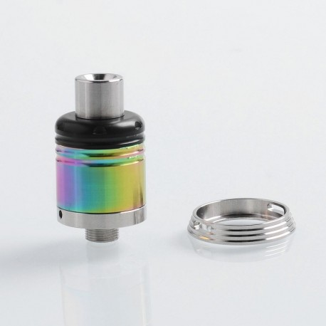 Karma Style RDA Rebuildable Dripping Vape Atomizer w/ BF Pin - Rainbow, 316 Stainless Steel, 18mm Diameter