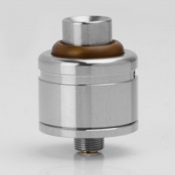IAI V2 BF 2.0 Style RDA Rebuildable Dripping Vape Atomizer w/ BF Pin - Silver, 316 Stainless Steel, 22mm Diameter