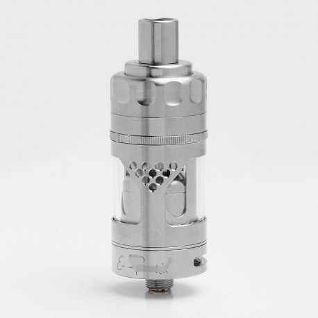 Hurricane V2 Style RTA Rebuildable Tank Vape Atomizer - Silver, 316 Stainless Steel + Glass, 2ml, 22.5mm Diameter