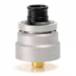 DDP Style RDA Rebuildable Dripping Vape Atomizer - Silver, 316 Stainless Steel, 22mm Diameter