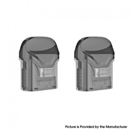 Authentic Uwell Crown Pod System Vape Kit Replacement Refillable Pod Cartridge w/ 1.0ohm MTL Coil - Black, 3ml (2 PCS)