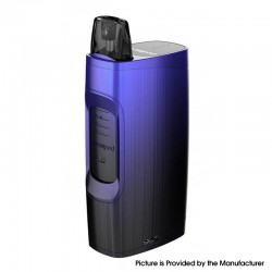 Authentic Uwell MarsuPod PCC 1000mAh Pod System Vape Starter Kit - Black & Blue, Polycarbonate + PCTG & ABS, 1.3ml, 1.2ohm