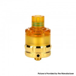 Authentic asMODus ANANI MTL RTA Rebuildable Tank Vape Atomizer - Gold, Stainless Steel + Ultem, 5.3ml, 24mm Diameter
