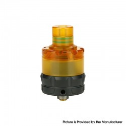Authentic asMODus ANANI MTL RTA Rebuildable Tank Vape Atomizer - Black, Stainless Steel + Ultem, 5.3ml, 24mm Diameter