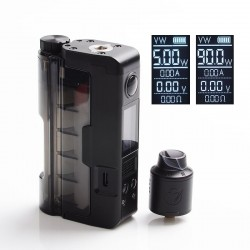 Authentic Dovpo 90W Topside Lite Kit TC VW Box Mod + Variant RDA Atomizer - Black, Polycarbonate, 5~90W, 1 x 20700 / 21700