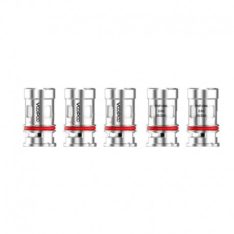 Authentic Voopoo PnP-VM4 Half-DL Single Mesh Coil for VINCI / VINCI R / VINCI X Pod Vape Kit - Silver, 0.6ohm (20~28W) (5 PCS)