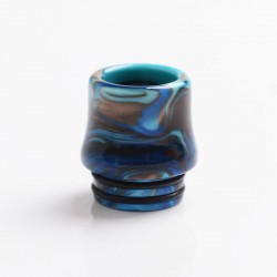 Authentic Reewape AS268 810 Replacement Drip Tip for SMOK TFV8 /TFV12 Tank/Kennedy/Battle/Reload RDA - Blue White, Resin, 17.5mm