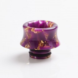 Authentic Reewape AS243 510 Replacement Drip Tip for RDA / RTA / RDTA / Sub-Ohm Tank Vape Atomizer - Purple Gold, Resin, 13mm