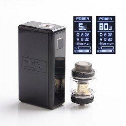 Authentic DEJAVU Neon 80W TC VW Variable Wattage Box Mod w/ Neon Atomizer Tank Kit - Black, ABS, 5~80W, 1 x 18650
