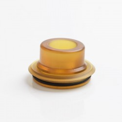 YFTK Replacement Drip Tip + Top Cap for FL EVO 22 Style RDA - Brown, PEI