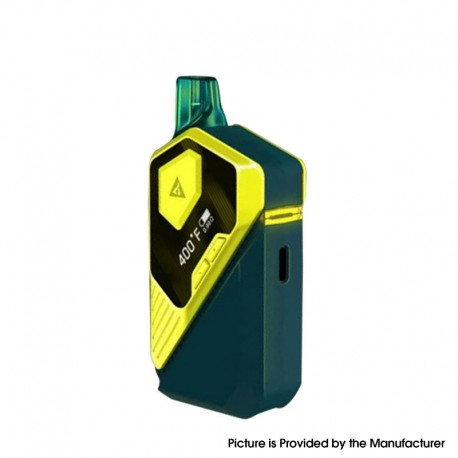 Authentic Cybervape CyberX 30W 800mAh TC VV VW Box Mod AIO Pod System Vape Starter Kit - Yellow, 0.5ohm/1.2ohm, 5~30W, 200~600'F
