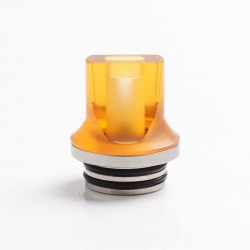 Authentic Reewape AS281T 810 Replacement Drip Tip for SMOK TFV8 / TFV12 Tank / Kennedy /Battle/Reload RDA - Yellow, Resin, 20mm