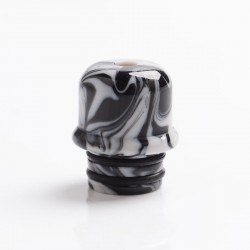 Authentic Reewape AS262 510 Replacement Drip Tip for RDA / RTA / RDTA / Sub-Ohm Tank Vape Atomizer - Black White, Resin, 14mm