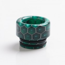 Authentic Reewape AS208 810 Drip Tip for SMOK TFV8 / TFV12 Tank / Kennedy - Green, Resin, 12mm