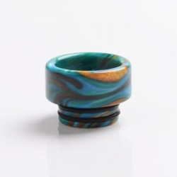 Authentic Reewape AS265 810 Replacement Drip Tip for SMOK TFV8 / TFV12 Tank /Kennedy/Battle/Reload RDA - Green Blue, Resin, 12mm