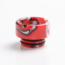 Authentic Reewape AS265 810 Replacement Drip Tip for SMOK TFV8 /TFV12 Tank/Kennedy/Battle/Reload RDA - Red White, Resin, 12mm