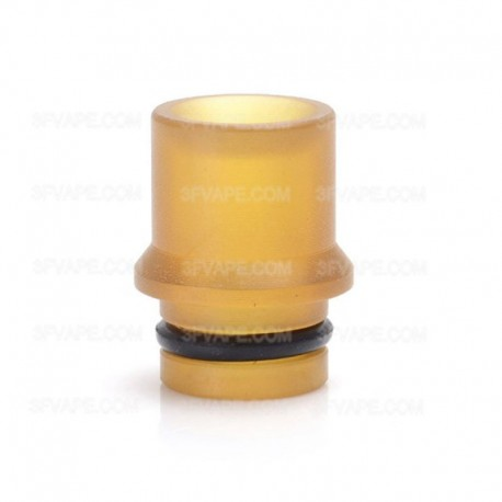 510 Replacement Drip Tip for Doggystyle 2K16 Style RTA Vape Atomizer - Yellow, PEI, 14mm