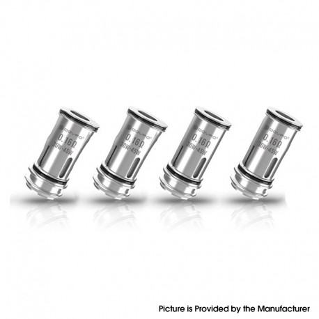 Authentic Dovpo Replacement Coil Head for The Ohmage Sub Ohm Tank - Silver, 0.16ohm (30~45W) (4 PCS)