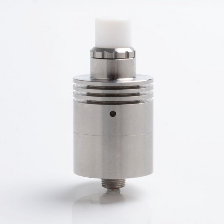 In'Ax MKIIr Style RDA Rebuildable Dripping Vape Atomizer - Silver, 316 Stainless Steel, 22mm Diameter