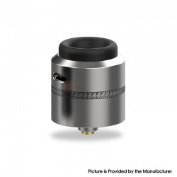 Authentic Acevape Pasopati RDA Rebuildable Dripping Vape Atomizer - Silver, Stainless Steel, 25mm Diameter