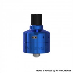 Authentic Damn Vape Intense DL / MTL RDA Rebuildable Dripping Vape Atomizer w/ BF Pin - Blue, Stainless Steel, 2ml, 24mm Dia.