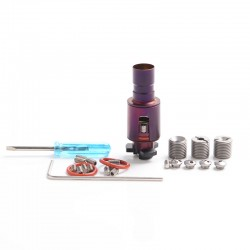 YFTK Haku Xeta Inside Style RBA Rebuildable Atomizer for BB Box Mod Kit - Purple, Titanium Alloy, Limited Edition.