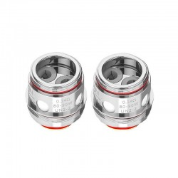 Authentic Uwell Valyrian 2 II UN2-2 Dual Meshed Coil Head - Silver, Stainless Steel, 0.14ohm (80~90W) (2 PCS)