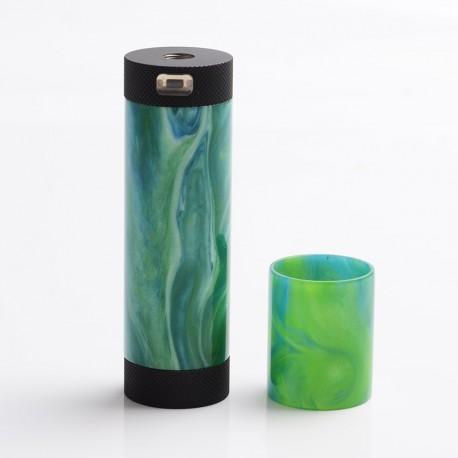Authentic CoolVapor Takit Mini V2 Semi-Mechanical Mod - Black + Green, Stainless Steel + Resin, 1 x 18350 / 18650