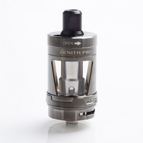Authentic Innokin Zenith Pro RDL / MTL Sub Ohm Tank Vape Atomizer - Gun Metal, Stainless Steel + Glass, 5.5ml, 24mm Diameter