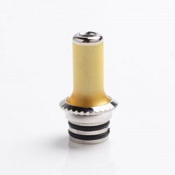 SXK Replacement Drip Tip for SXK NOI Style RTA Vape Atomizer - Brown, PEI + Stainless Steel, 23mm