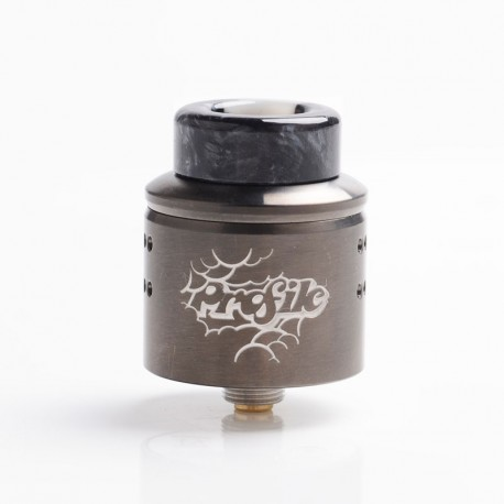 Authentic Wotofo Profile 1.5 RDA Rebuildable Dripping Atomizer w/ BF Pin - Gunmetal, Stainless Steel, 24mm Diameter