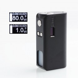 [Ships from Germany] Authentic Hippovape Kudos 80W VW Variable Wattage Squonk Box Mod - Black, Zinc Alloy, 7ml, 3~80W, 1 x 18650