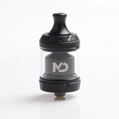 [Ships from Germany] Authentic Hellvape MD MTL RTA Rebuildable Tank Atomizer - Black, Stainless Steel + Glass, 2ml / 4ml, 24mm