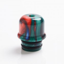 Authentic Reewape AS262 510 Replacement Drip Tip for RDA / RTA / RDTA / Sub-Ohm Tank Vape Atomizer - Red Green, Resin, 14mm