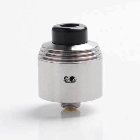 SXK Hussar V2.0 Style RDA 2.0 Rebuildable Dripping Vape Atomizer - Silver, 316 Stainless Steel, 22mm Diameter