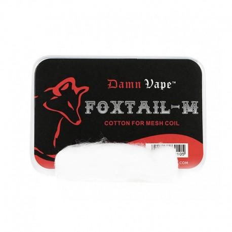 Authentic Damn Vape Foxtail-M Organic Cotton for Mesh RBA / RDA / RTA / RDTA Vape Atomizer - White (10 PCS)