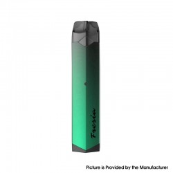 Authentic Damn Vape Fresia 8W 450mAh MTL Refillable Pod System Vape Starter Kit - Green, Aluminum + PCTG, 2ml, 1.4ohm