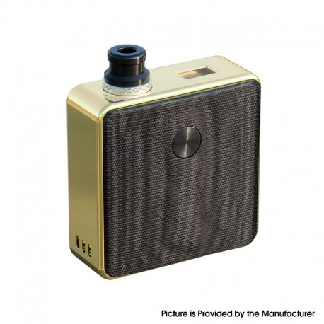 [Ships from Battery Warehouse] Authentic SXK Bantam Revision 30W VW Box Vape Mod Kit w/ 18350 - Gold Plating, 5~30W, 1 x 18350
