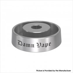 Authentic Damn Vape Base Pro Replacement Leak-proof Atty Base Stand for RTA / RDTA / Sub Ohm Tank - Silver, SS, 3ml, 10mm x 35mm