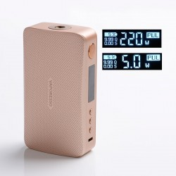 Authentic Vaporesso GEN 220W TC VW Variable Wattage Box Mod - Gold, 5~220W, 2 x 18650