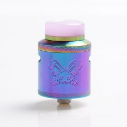 Authentic Hellvape Dead Rabbit V2 RDA Rebuildable Dripping Atomizer w/ BF Pin - Rainbow, Stainless Steel, 24mm Diameter