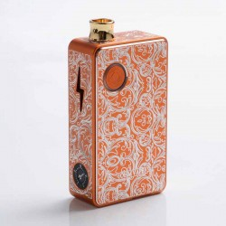 Authentic Ohm Vape AIO 42W Box Mod Pod System Starter Kit - Golden Orange, 1 x 18650, Engraved Version