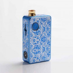 Authentic Ohm Vape AIO 42W Box Mod Pod System Starter Kit - Blue, 1 x 18650, Engraved Version