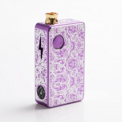 Authentic Ohm Vape AIO 42W Box Mod Pod System Starter Kit - Purple, 1 x 18650, Engraved Version