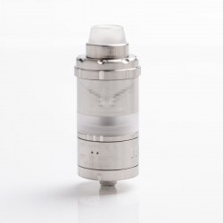 Kindbright Vapor Giant VG Kronos 2S Style DL / MTL RTA Rebuildable Tank Vape Atomizer - Silver, 316SS + PC, 4ml, 23mm Diameter