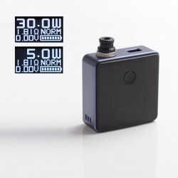 Authentic SXK Bantam Revision 30W VW Variable Wattage Box Vape Mod Kit w/o 18350 Battery - Purple, 5~30W, 1 x 18350, SEVO-30